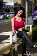 ����� ������, ���� 3902. Denise Milani Red tank candids :, foto 3902