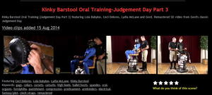 NakedGord: Kinky Barstool Oral Training-Judgement Day Part 3