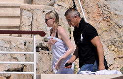 Kirsten Dunst enjoys a day in the sun at Hotel Eden Roc in Cannes - Hot Celebs Home