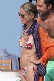 Sharon Stone Bikini Candids Pictures