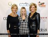 Beverley Mitchell at code.ai launch party (6xMQ)